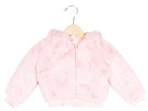 MonnaLisa Girls' Textured Hooded Jacket