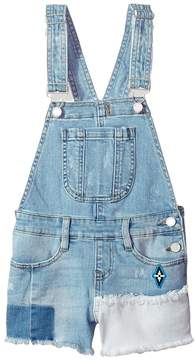 Blank NYC Kids Denim Overalls in Down The Shore Girl's Overalls One Piece