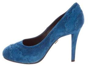 Roger Vivier Perforated Suede Pumps