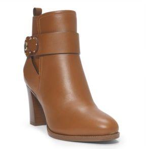 Ralph Lauren Mehira Calfskin Boot Rl Gold 6.5