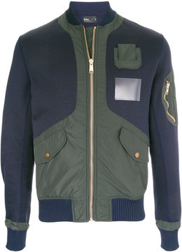 Kolor panelled bomber jacket