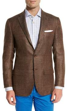 Kiton Cashmere-Blend Three-Button Sport Coat, Brown