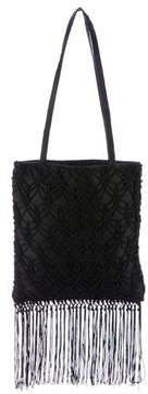 Dolce & Gabbana Crochet Mini Handle Bag - BLACK - STYLE
