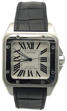 Cartier Santos W20073X8 Stainless Steel / Rubber with Silver Dial 41mm Mens Watch