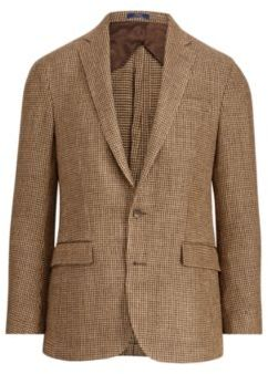 Ralph Lauren Morgan Linen-Silk Sport Coat Brown And Tan 40