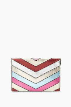 Rebecca Minkoff Patchwork Leo Clutch - METALLIC - STYLE