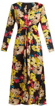 Etro Agogo V-neck floral-print silk midi dress