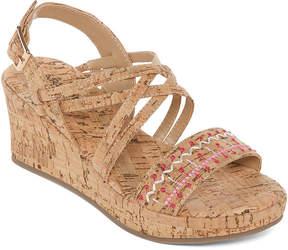 Arizona Elara Girls Wedge Sandals - Little Kids/Big Kids