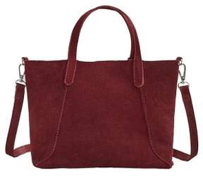 MANGO Leather mini shopper bag