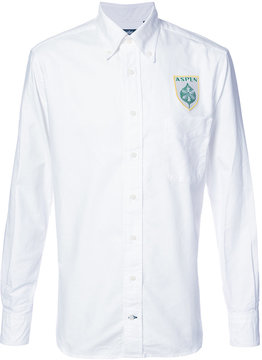 Gitman Brothers logo embroidered shirt