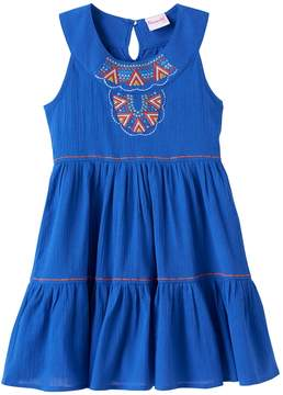 Nannette Girls 4-6x Embroidered Tiered Dress