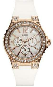 GUESS U16529L1 White Silicone Crystal Chronograph Watch
