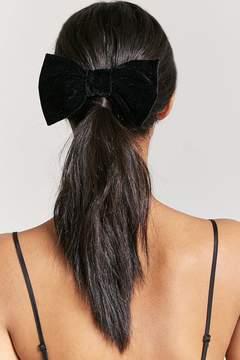 Forever 21 Velvet Bow Hair Barrette