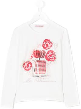Miss Blumarine embellished long sleeve T-shirt