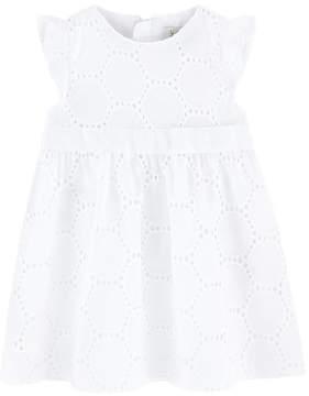 Jean Bourget Broderie anglaise lace dress