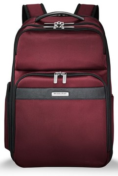 Briggs & Riley Men's Transcend 400 Cargo Backpack - Red