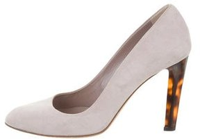 Bally Suede Semi-Pointed-Toe Pumps