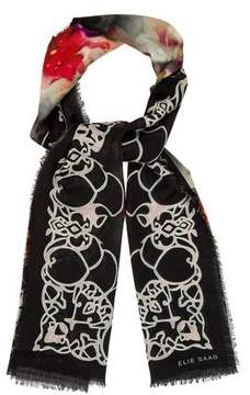 Elie Saab Abstract Print Woven Scarf