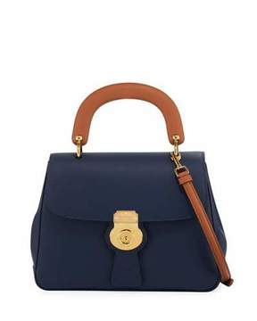 Burberry Trench Large Saffiano Top Handle Bag, Blue - BLUE - STYLE