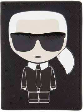 Karl Lagerfeld K/Ikonik Faux Leather Passport Holder