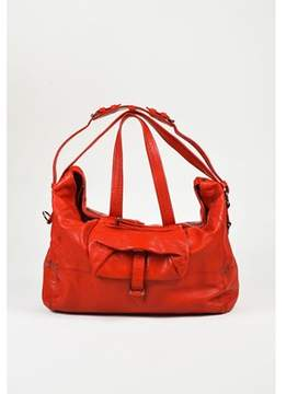 Jerome Dreyfuss Pre-owned Red Grained Leather medium Billy Shoulder Bag.