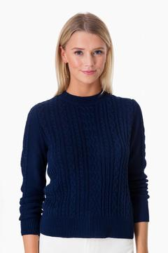 Demy Lee Indigo Lindsay Cotton Crewneck Sweater