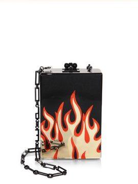 Edie Parker Carol Flames Printed Clutch