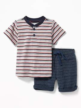 Old Navy Henley and Drawstring Shorts Set for Baby