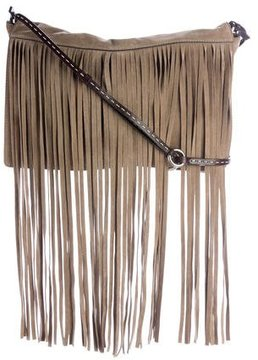 Michael Kors Fringed Suede Bag - GREY - STYLE