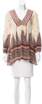 Calypso Silk Long Sleeve Tunic