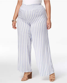 Planet Gold Trendy Plus Size Printed Wide-Leg Pants
