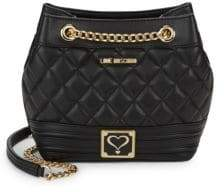 Love Moschino Small Quilted Shoulder Bucket Bag