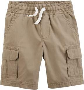 Carter's Little Boys Pull-On Poplin Cargo Shorts
