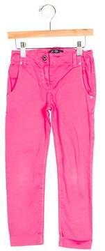 Miss Blumarine Girls' Crystal-Embellished Skinny Pants
