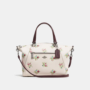 COACH Coach Prairie Satchel With Cross Stitch Floral Print - DARK GUNMETAL/CHALK CROSS STITCH FLORAL - STYLE