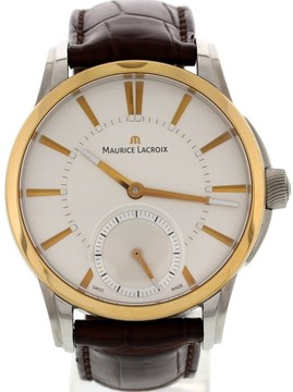 Maurice Lacroix Pontos PT7558 Stainless Steel & 18K Yellow Gold Mens Watch