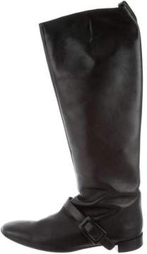 Roger Vivier Square-Toe Leather Boots