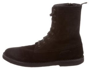 Burberry Leather Combat Boots