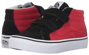Vans Kids SK8-Mid Reissue V Black/Racing Red) Boys Shoes
