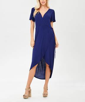 Bellino Navy Tie-Waist Wrap Dress - Women