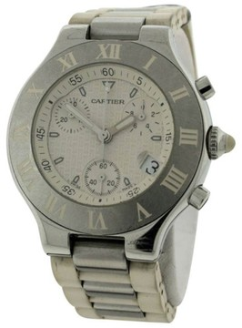 Cartier Must 21 Stainless Steel & Rubber 38mm Watch