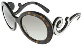 Prada Women's Gradient PR08TS-2AU0A7-55 Brown Round Sunglasses