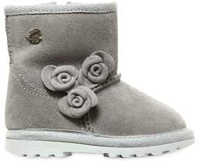 Miss Blumarine Suede & Faux Shearling Boots