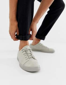 Asos Lace Up Sneakers In Gray With Toe Cap