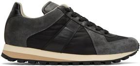 Maison Margiela Black Retro Runner Sneakers
