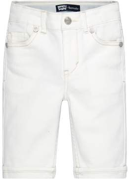 Levi's Toddler Girl White Jean Bermuda Shorts