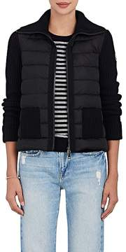 Moncler Women's Down-Quilted & Wool-Cashmere Sweater