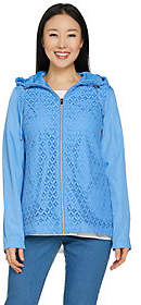 C. Wonder Water Resistant Packable Lace Jacket with Hood