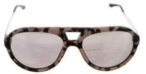 Stella McCartney Mirrored Tortoiseshell Sunglasses