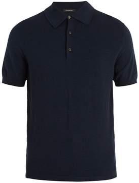 Ermenegildo Zegna Contrast-panel wool and cotton-blend polo shirt
